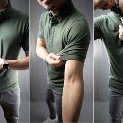 melange ultra soft polo shirt