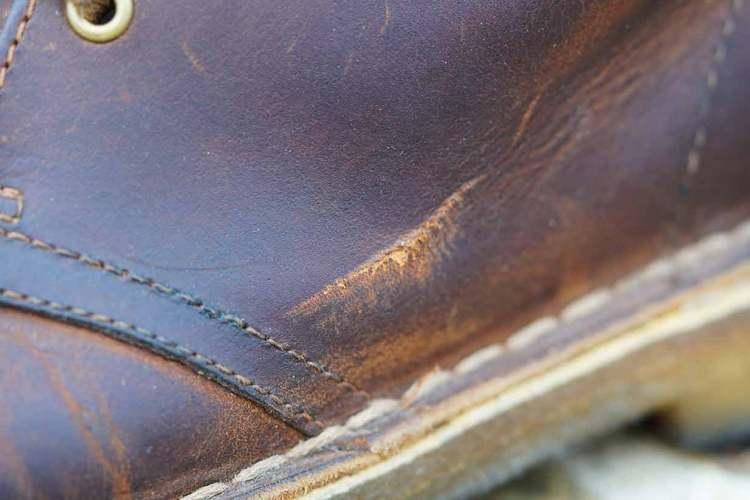 beeswax desert boot scratch details