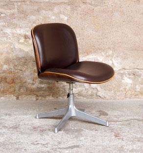 fauteuil de bureau vintage ico parisi mim pivotant gentlemen designers