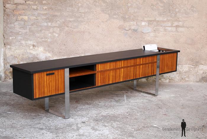 enfilade vinyle meuble tv vintage scandinave en teck gentlemen designers