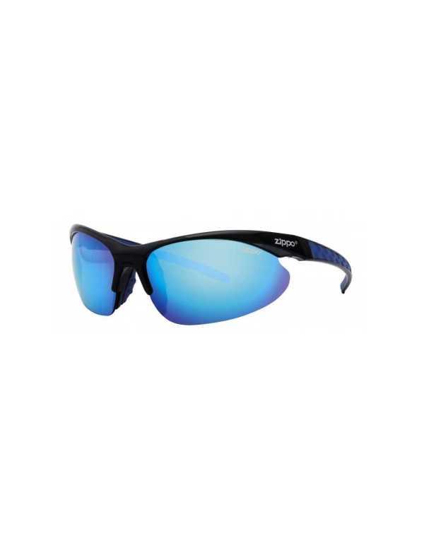 zippo blue semi rimless wrap sports sunglasses min min