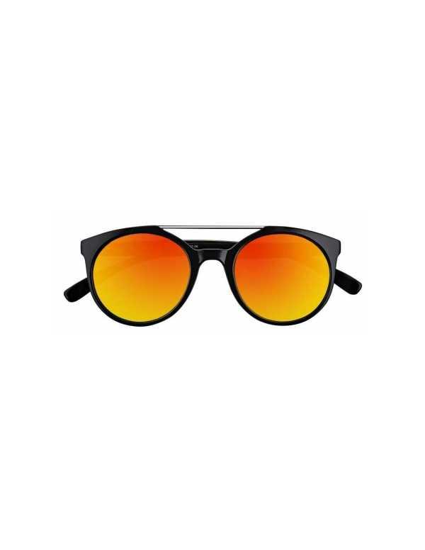 zippo orange mirror circular sunglasses with brow bar 1 min