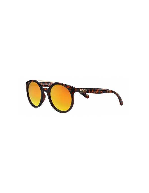zippo orange multicoated circular sunglasses with brow bar min