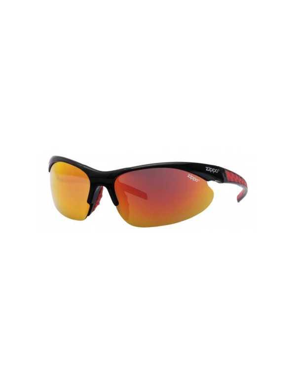 zippo orange semi rimless wrap sports sunglasses min