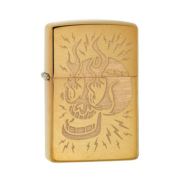 151699 zippo bricheta tattoo skull 1