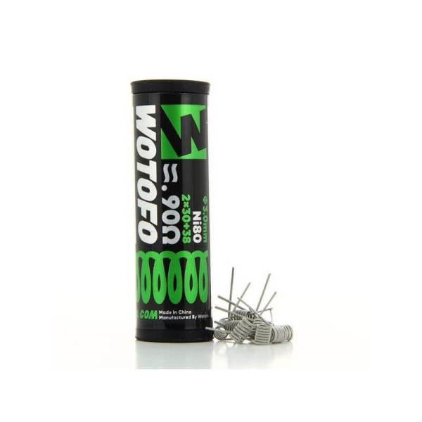 pack de 10 coils dual core fused clapton ni 80 30238 09ohm wotofo 1