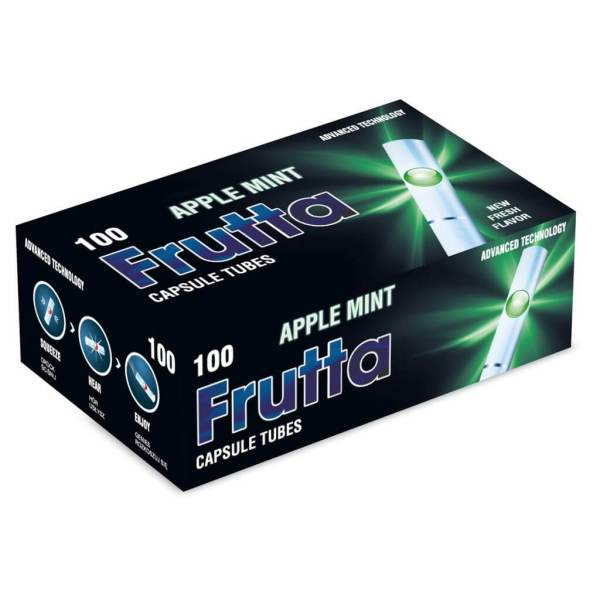frutta click tubes apple mint filtertubes with aroma capsules