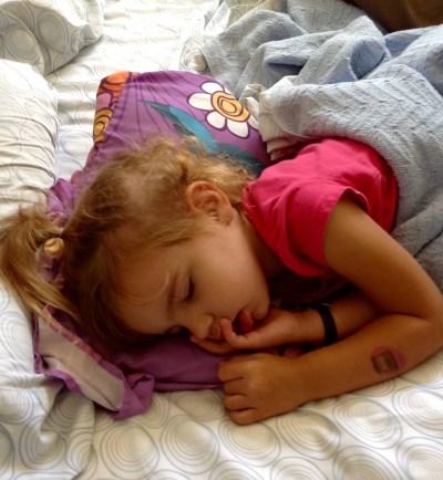 Elizabeth sleeping