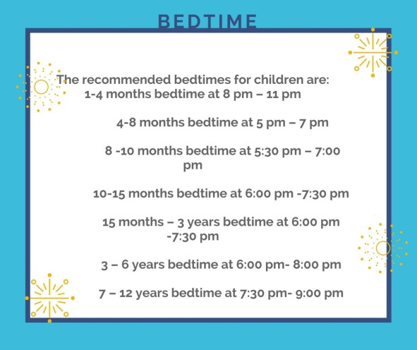 What is the best bedtime per age of the child.