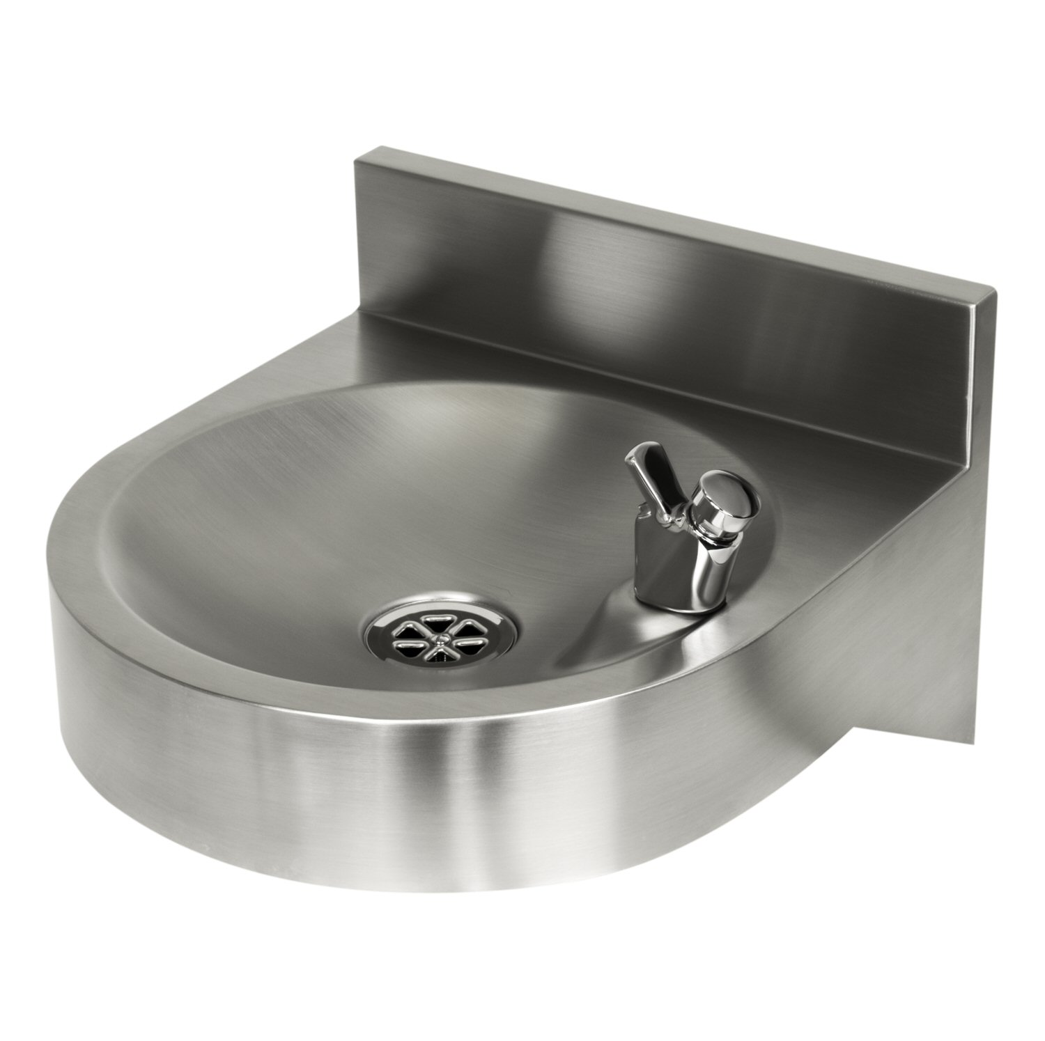 drinking fountain wall mounted stainless steel with bubbler valve tap