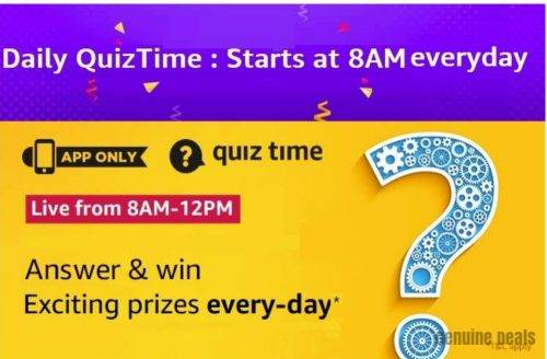 Amazon Quiz 28 September 2020 Answers – Win Exciting Prizes