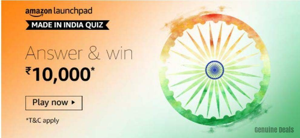 Amazon Made In India Quiz Answers – Win Rs. 10000