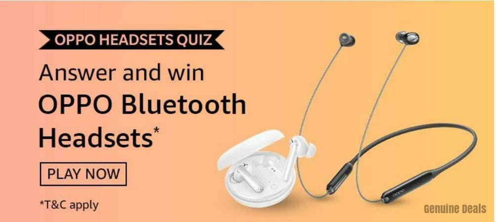 Amazon Oppo Headsets Quiz Answers – Win Oppo Headsets