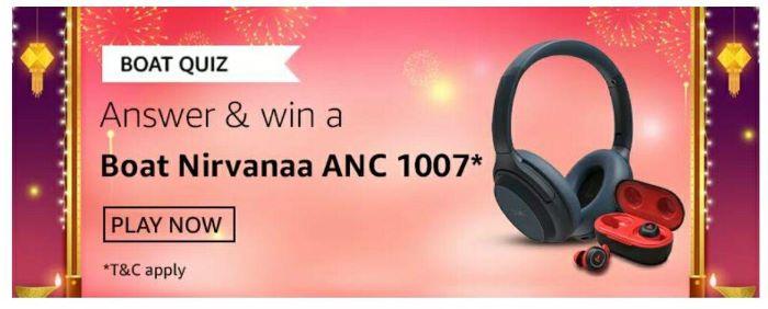 Amazon Boat Quiz Answers – Win Boat Nirvanaa ANC 1007