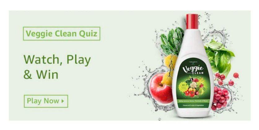 Amazon Veggie Clean Quiz Answers – Win Rs. 10000