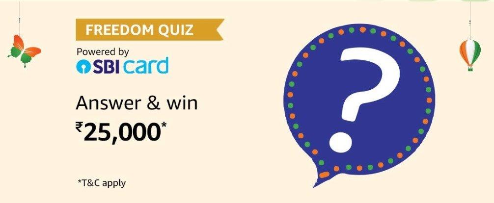 Amazon Freedom Quiz Answers – Win Rs. 25000