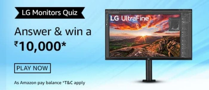 Amazon LG Monitors Quiz Answers – Win LG Monitor