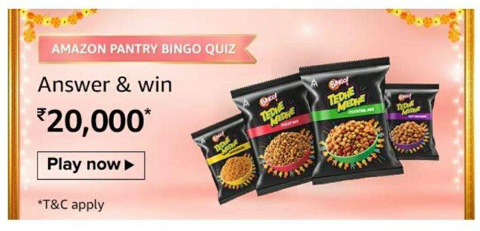 Amazon Pantry Bingo Quiz Answers – Win Rs. 20,000 Paybalance