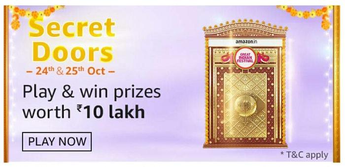 Amazon Secret Doors Quiz Answers – Win Rs. 10 Lakh Prizes