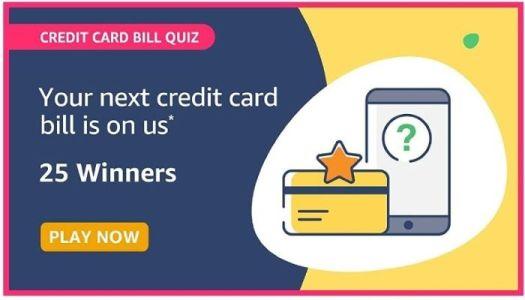 Amazon Credit Card Bill Quiz 1
