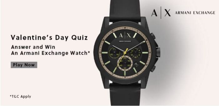 Amazon Valentine's Day Quiz Answers – Win Armani Exchange Watch