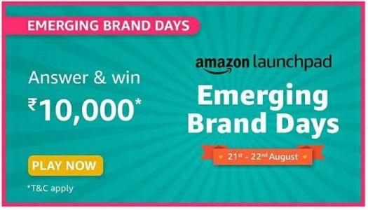 amazon emerging brands days quiz