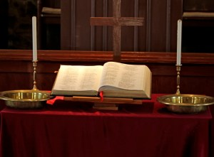 Display table with Bible