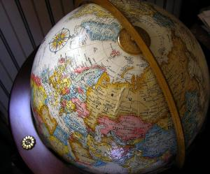 Photo of a world globe