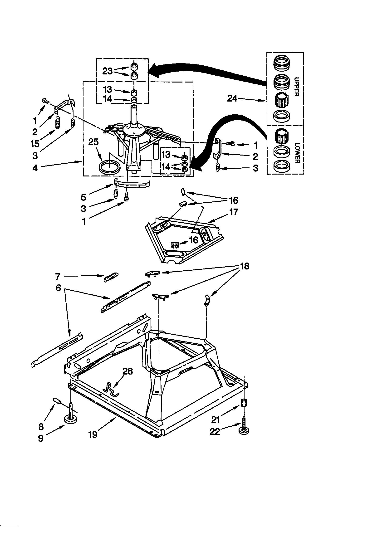Kenmore 110 Tub Suspension Spring