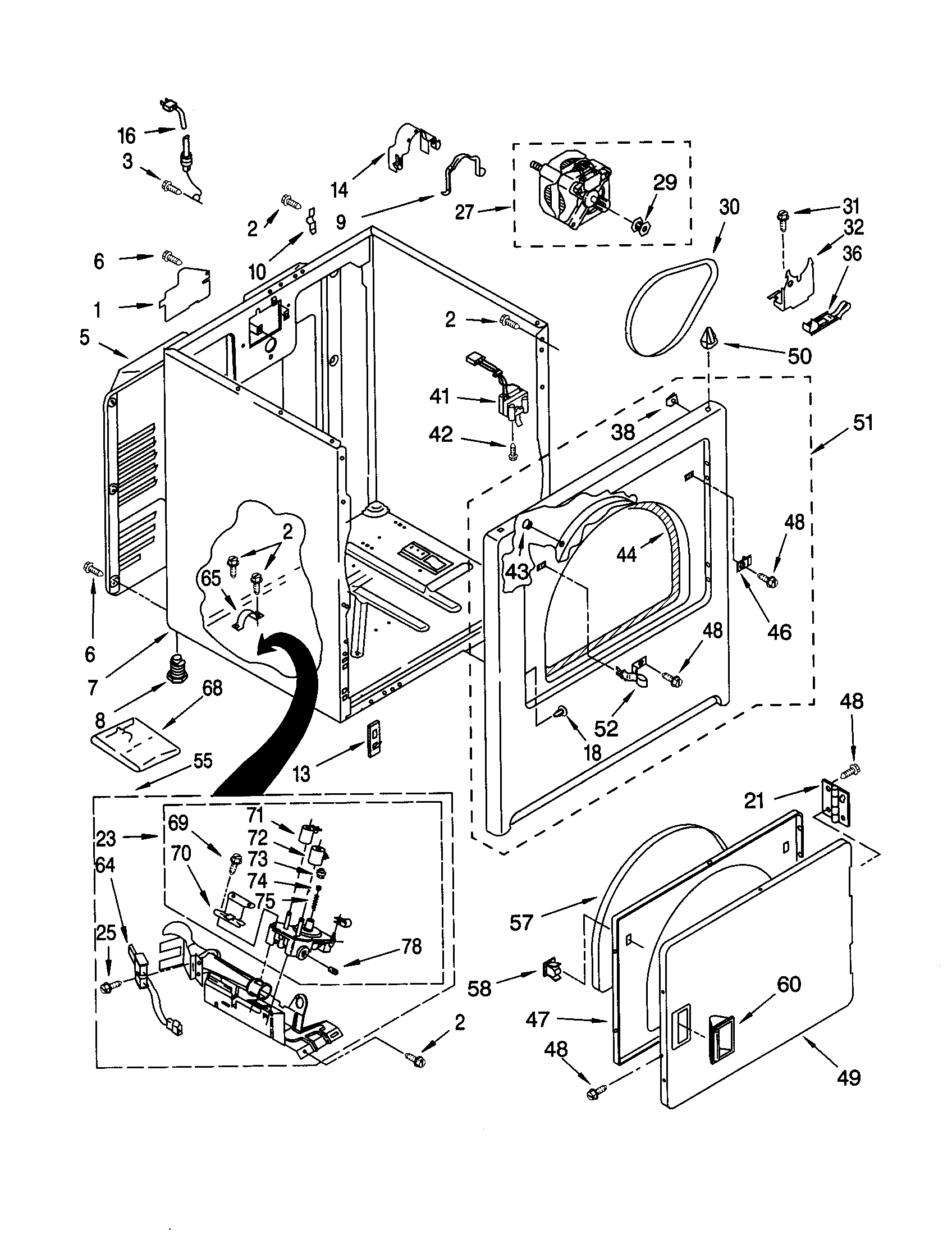 Kenmore 110 C Door Switch