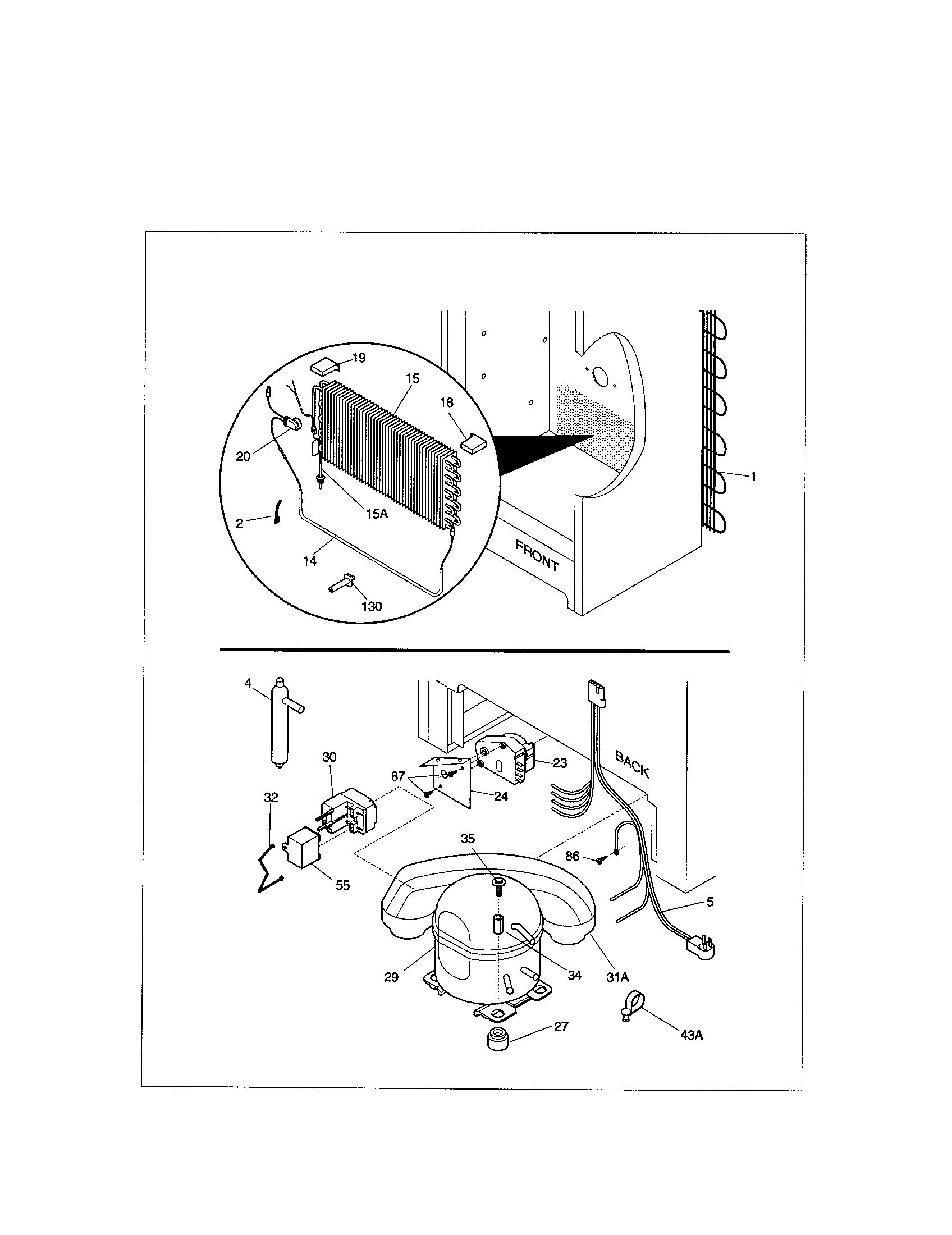 Kenmore 253 Freezer Condenser Coil