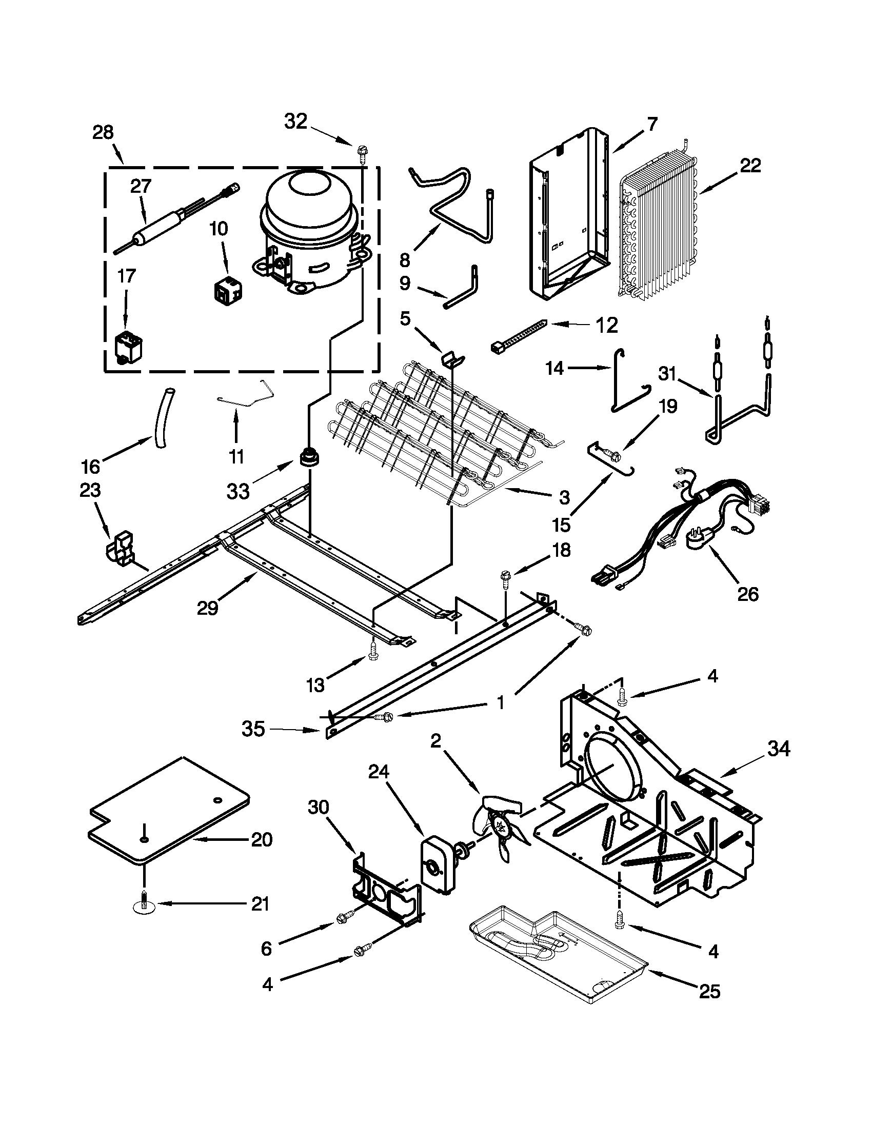 Whirlpool 5wrs25knbf00 Refrigerator Coil Condenser