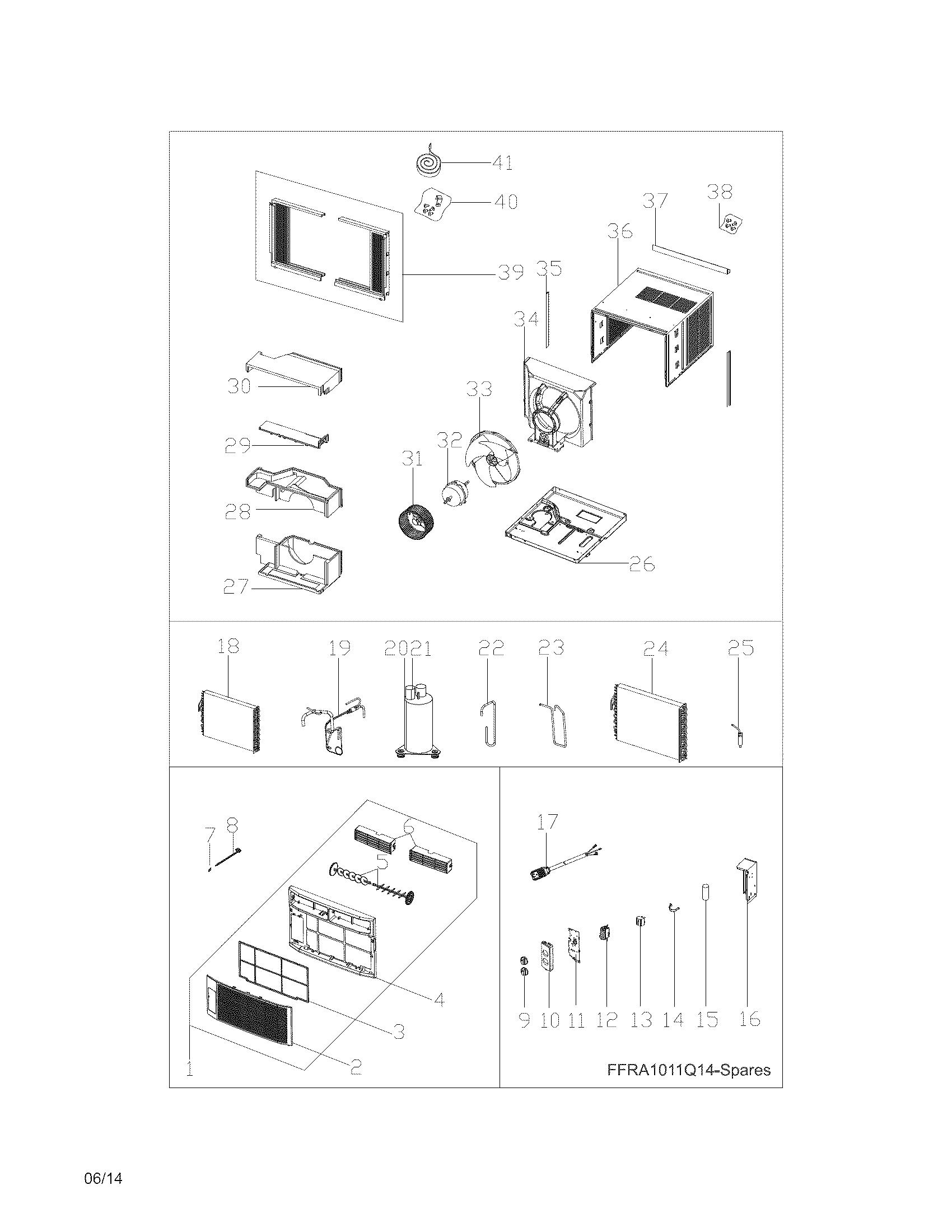 Frigidaire Ffra Q15 Screw Kit 4 Pc