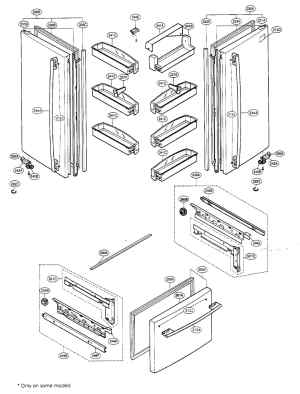 LG LFC22740ST Refrigerator Door Gasket  Right, Black
