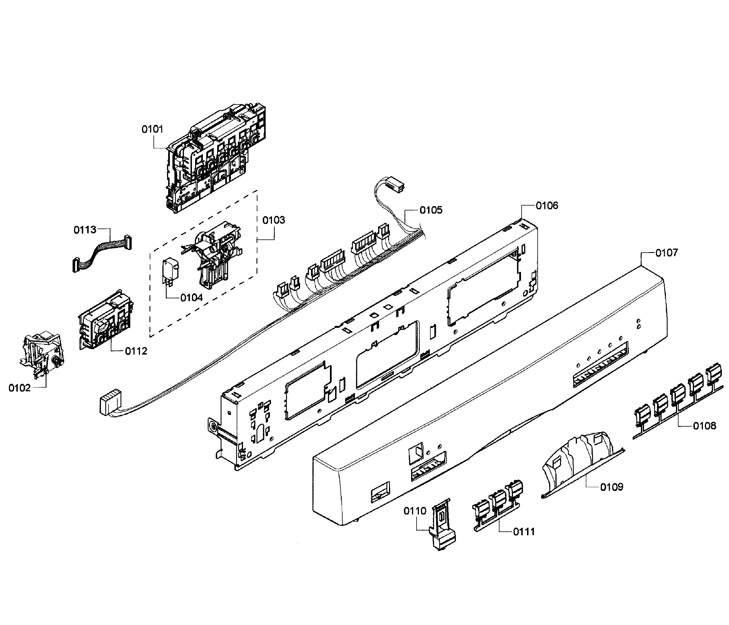 Bosch She55m15uc 61 Control Board Unit Module 5 Program W