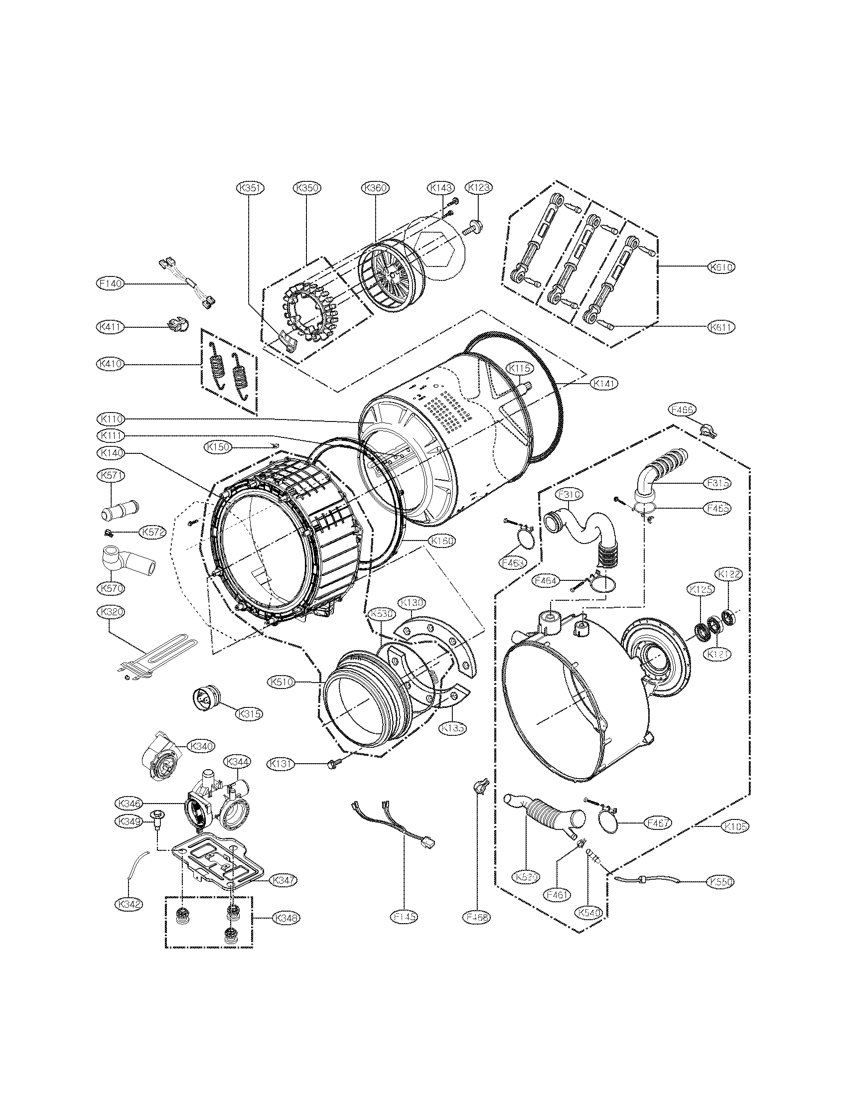 Lg Wm Hv Washer Drain Pump And Motor Assembly