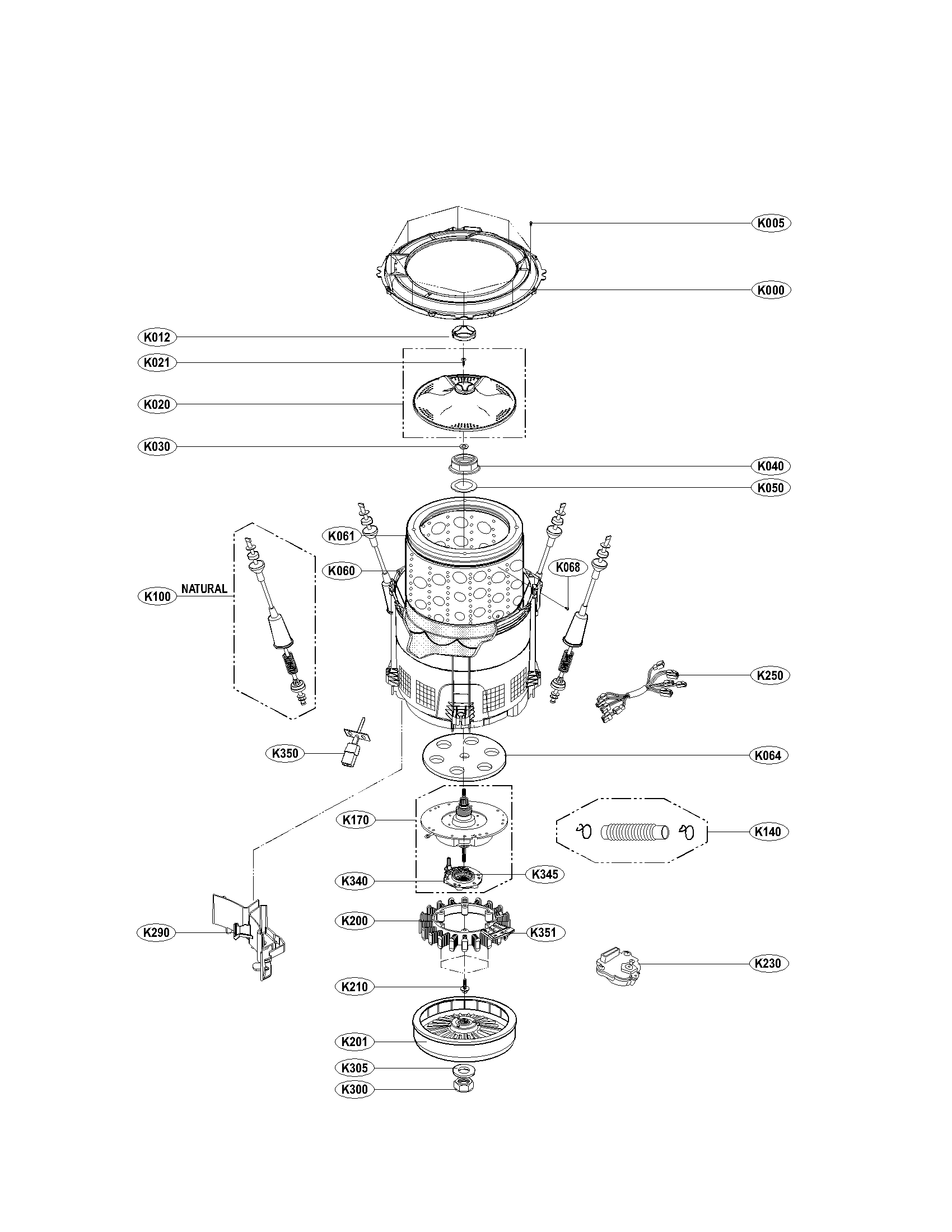 lg wt cw shift actuator coupling assembly