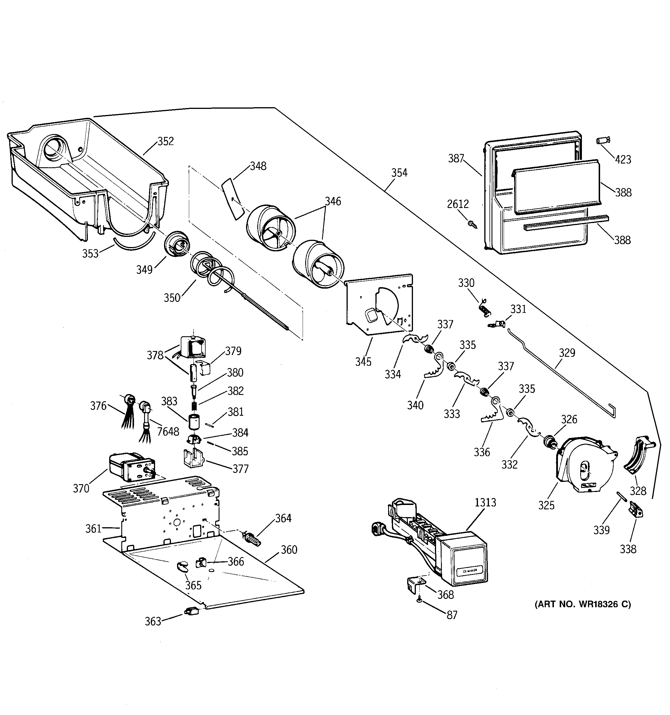 28 Ge Refrigerator Ice Maker Parts Diagram
