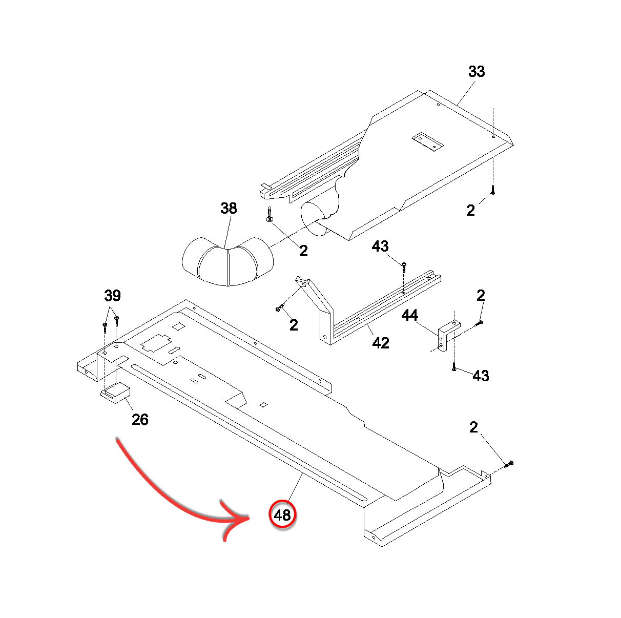 Kenmore 417 Dryer Heating Element Assembly
