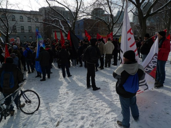OCAP, OPSEU & anarchists in solidarity at Moss Park
