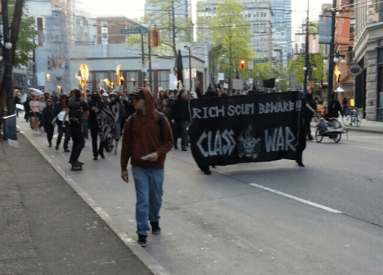 The Vancouver Police Department just let them roam with torches...