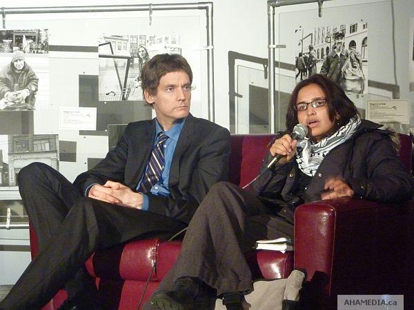 David Eby & Harsha Walia at the W2 Media Centre...