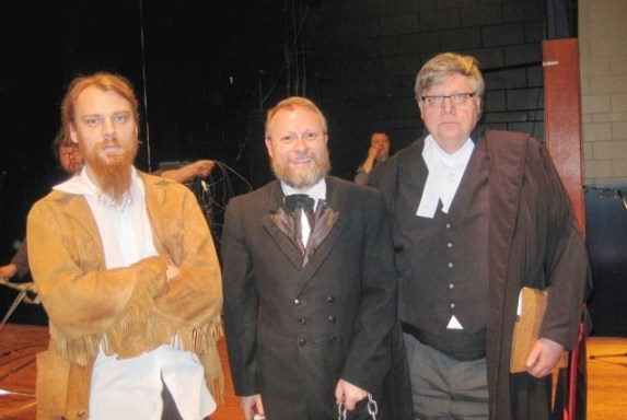Daniel Johnson (on left) plays the part of Louis Riel in Regina...