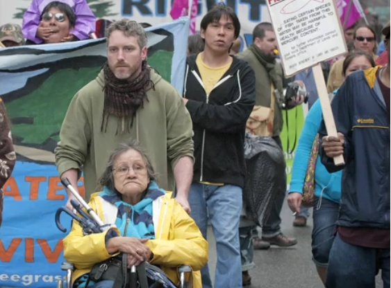 CPT's Dave Vasey at a previous Grassy Narrows march...