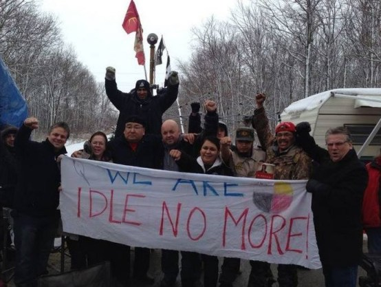 Ken Lewenza (far right) at the Sarnia Blockade...