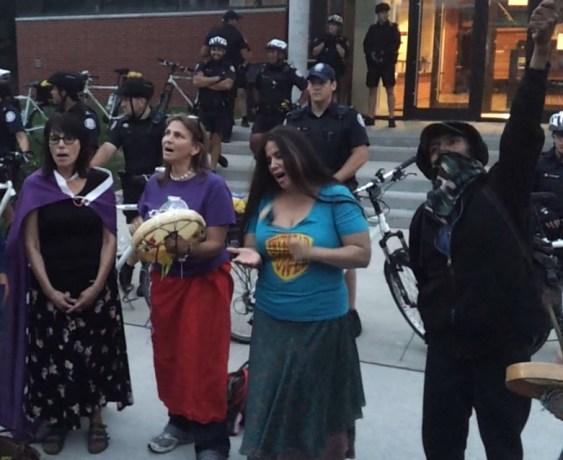 The Occupy Toronto Livestream drummers co-opting Sammy Yatim's memorial...