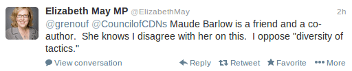 Elizabeth-May-Maude-Barlow-Friend-Co-Author-Violence-Council-Canadians