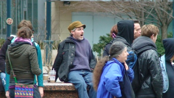 Christian Peacemaker Dave Vasey, yawning in disappointment how lame the event was...