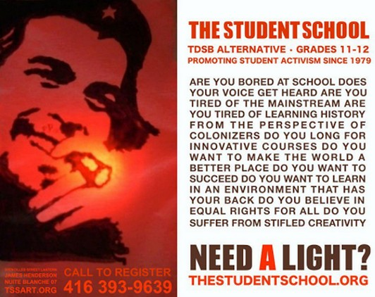 Since when was it okay to promote a school through smoking?