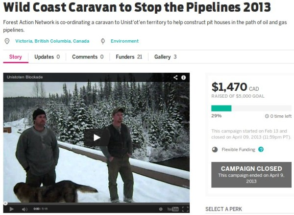 Forest Action Network's Zoe Blunt's fundraiser was a flop...